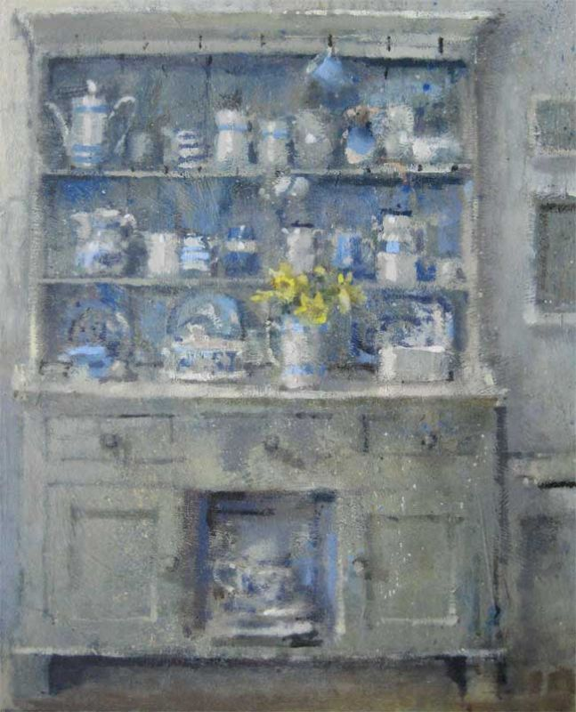 Andrew Douglas-Forbes, Big Welsh Daffodils On The White Dresser