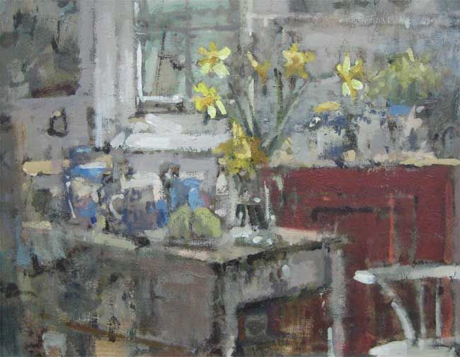 Andrew Douglas-Forbes, Daffs On The Famous Carmarthen Table