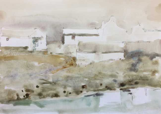 Andrew Douglas-Forbes, Farm Reflection, Mist - Carmarthen