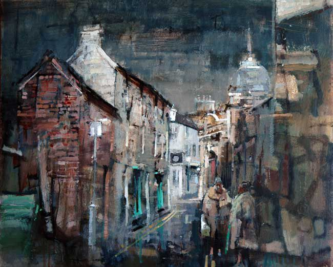Andrew Douglas-Forbes, Light Catching The Old Bank, Llandeilo