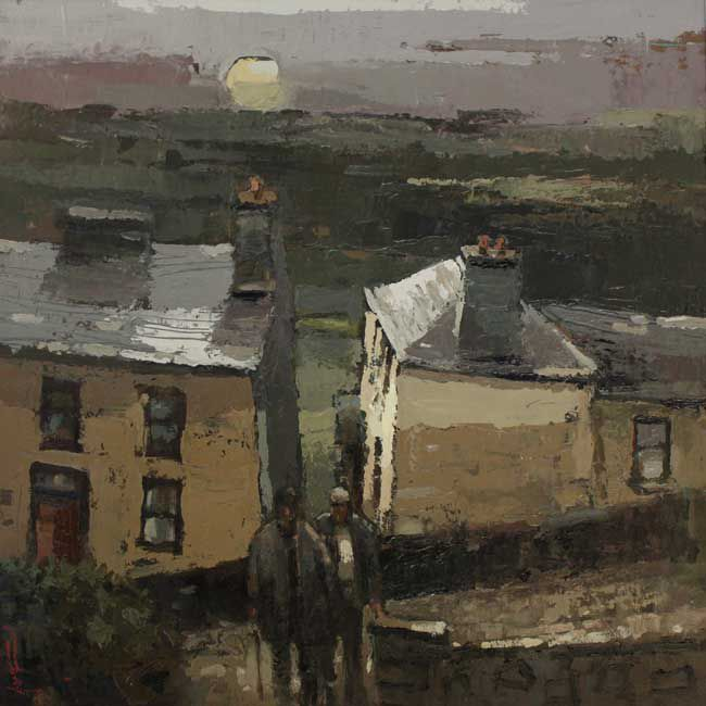 Andrew Douglas-Forbes, September Moon Over Quay Street