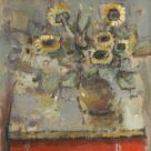 Andrew Douglas-Forbes, Sunflowers On The Red Cupboard