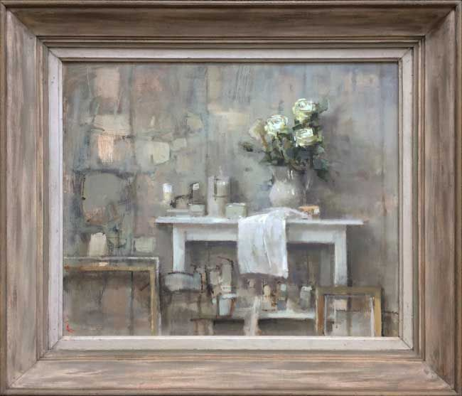 Andrew Douglas-Forbes, White Roses In The Studio