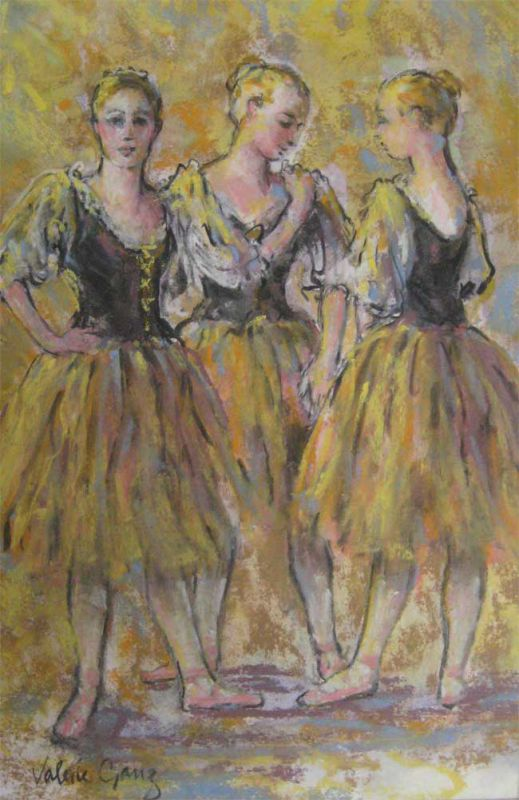 Valerie Ganz (1936-2015), Before Curtain Up