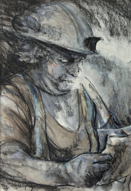 Valerie Ganz (1936-2015), Checking The Day Schedule