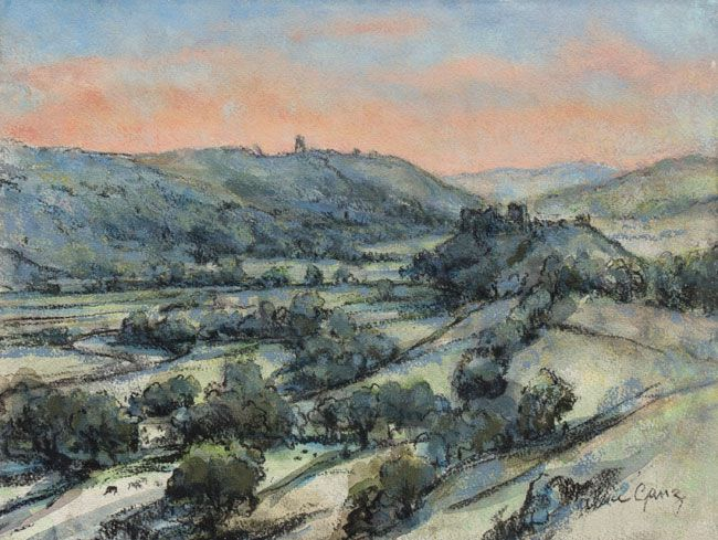 Valerie Ganz (1936-2015), Looking Down The Towy Valley