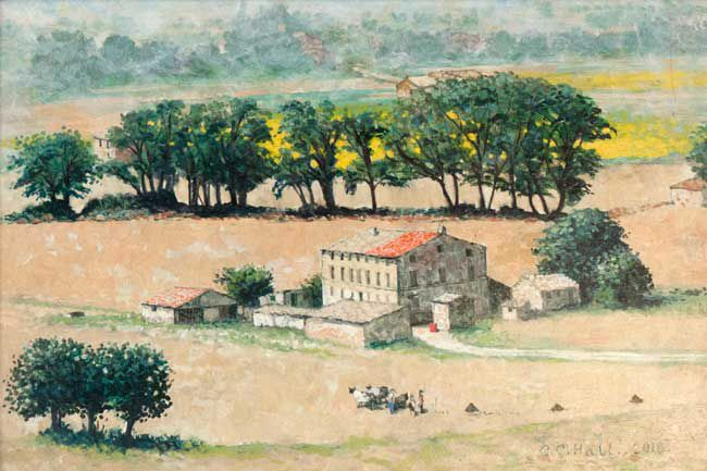 Christopher Hall (1930-2016), Landscape, Villa Musone