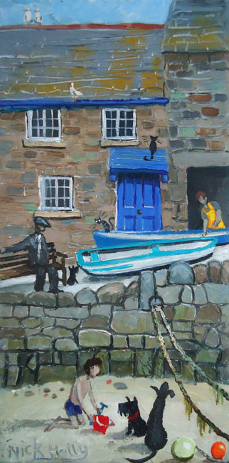 Nick Holly, Cottage, Mousehole Harbour
