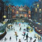 Nick Holly, Frozen Canal, Amsterdam