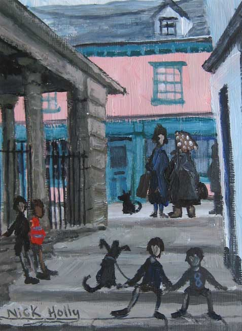 Nick Holly, Old Market Steps - Hay-on-Wye