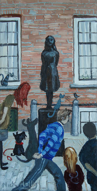 Nick Holly, Passers By, Anne Frank Statue