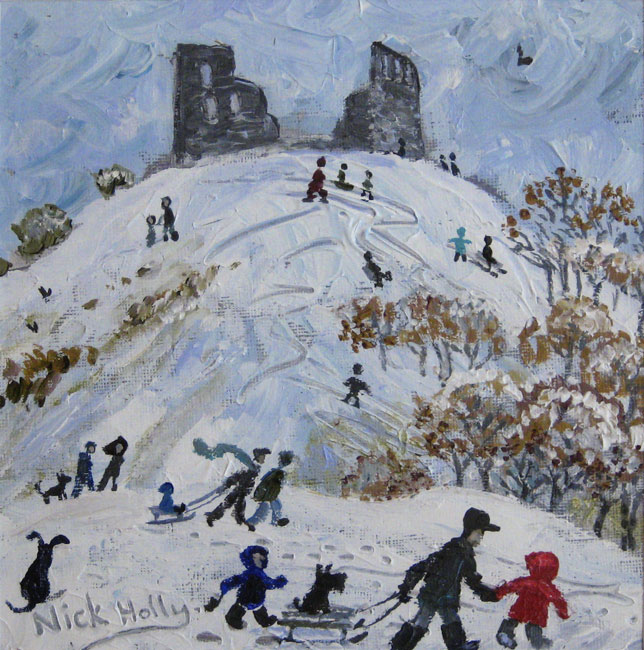 Nick Holly, Snow At Dryslwyn Castle