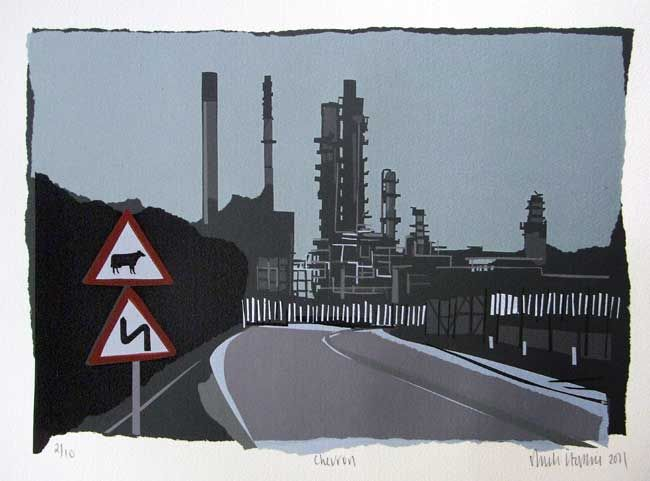 Sarah Hopkins, Chevron (unframed)