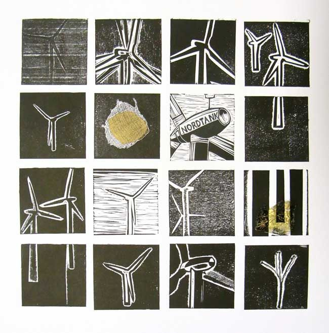 Sarah Hopkins, Wind Turbines 2 (unframed)