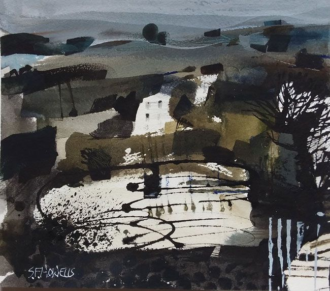 Sue Howells, House And Lake, Carmarthenshire