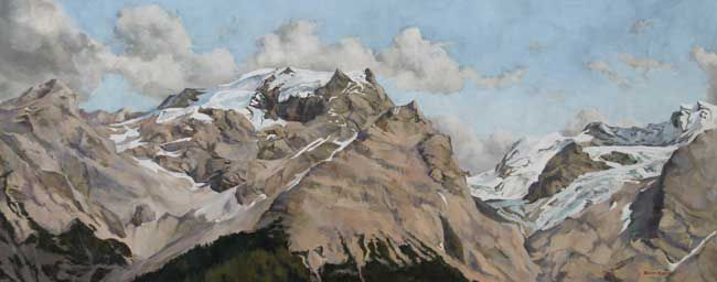 Rowan Huntley, June Sunshine, Mt. Ortles, Alps