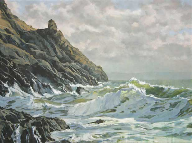 Rowan Huntley, Pobbles Bay After The Storm