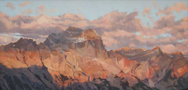 Rowan Huntley, Sunset Shadows, Sorapis Massif, Dolomites
