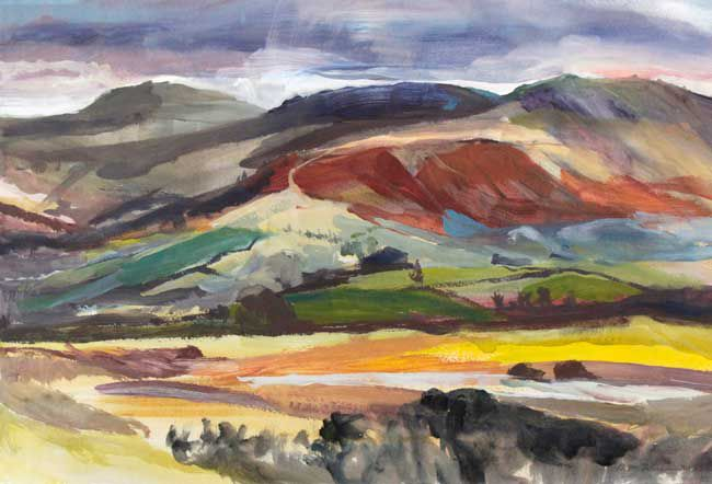 Duncan Johnson, The End of a Winter's Day, Brecon Beacons