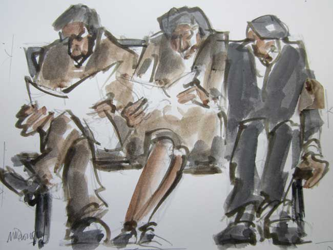 Mike Jones, Figures on Bench