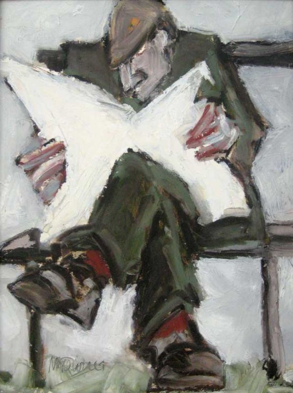 Mike Jones, Man Reading 2