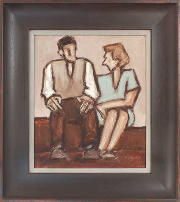 Mike Jones, Seated Couple On Step