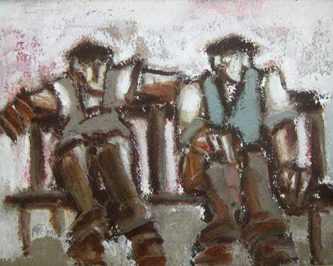 Mike Jones, Two Men, Park Bench 2