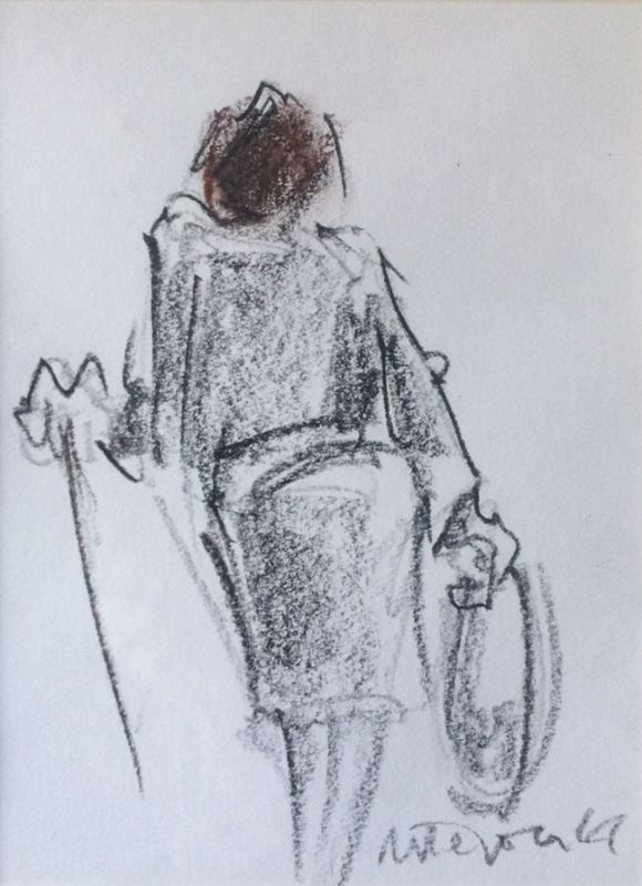 Mike Jones, Woman With Bag (mounted, unframed)