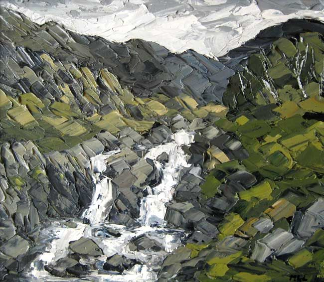 Martin Llewellyn, Rocks & Waterfall