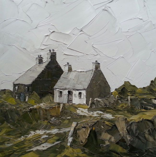 Martin Llewellyn, Stone Wall And Cottages