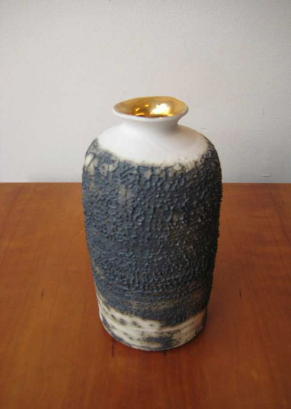 Alex McCarthy, Textured Bottle with Gold Lustre Highlight