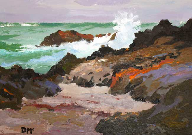 Donald McIntyre (1923 - 2009), Rocks And Sea 7