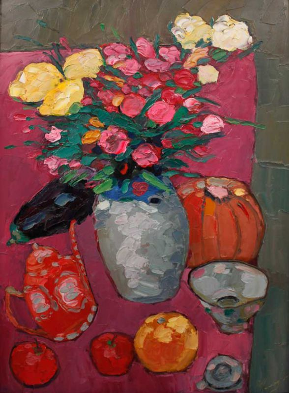 Michael Monaghan, Still Life With Roses 2