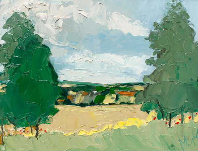 Michael Monaghan, View Of The South Downs
