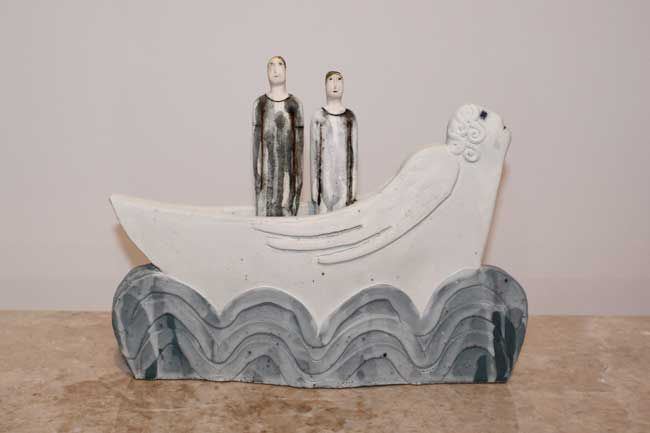 Sarah Noel, Couple In Angel Boat