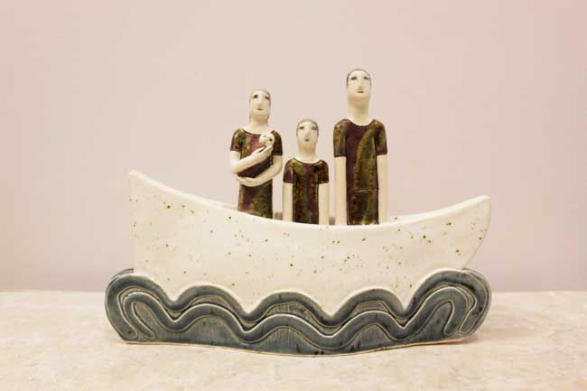 Sarah Noel, Family In Boat