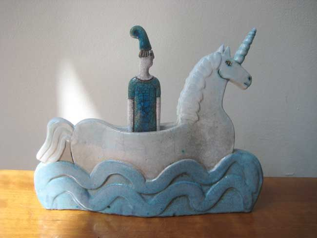 Sarah Noel, Figure In Unicorn Boat