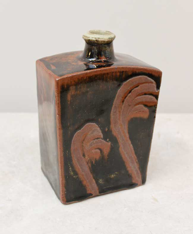 Phil Rogers RCA, Press Moulded Bottle With Finger Wipe