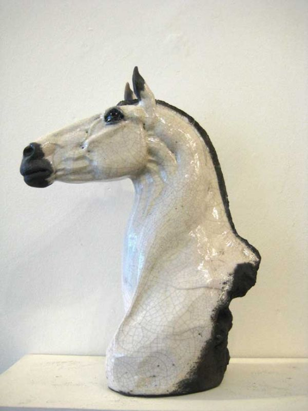 Keza Rudge, White Horse Head II