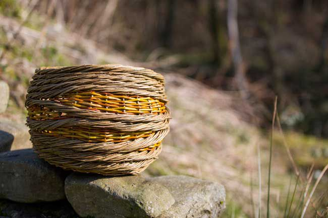 Tywi Valley Open Studios Artist, Coiled Rope Basket by Justine Burgess