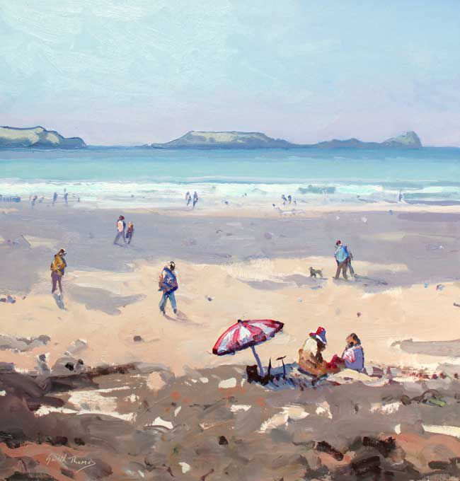 Gareth Thomas (1955-2019), Beach Brolly, Llangennith