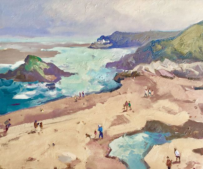 Gareth Thomas (1955-2019), Beach Near Borth y Gest