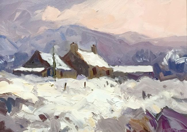 Gareth Thomas (1955-2019), Early Snow, Trawsfynydd Farm