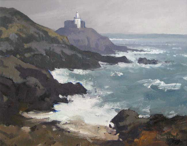 Gareth Thomas (1955-2019), Full Tide, Mumbles Lighthouse
