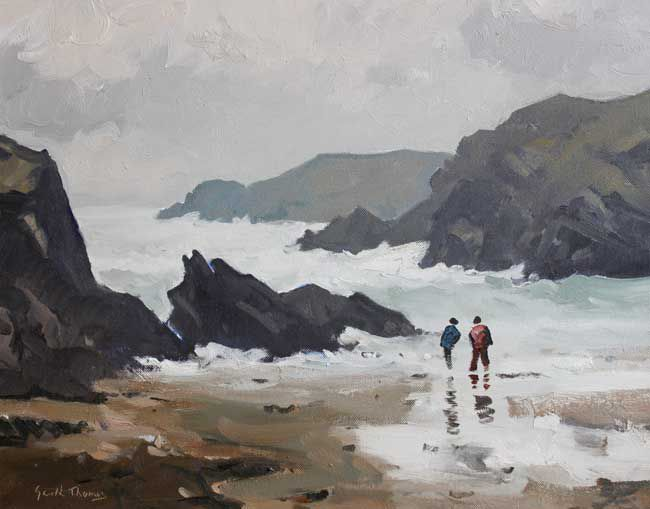 Gareth Thomas (1955-2019), Rough Day, Porth Defarch