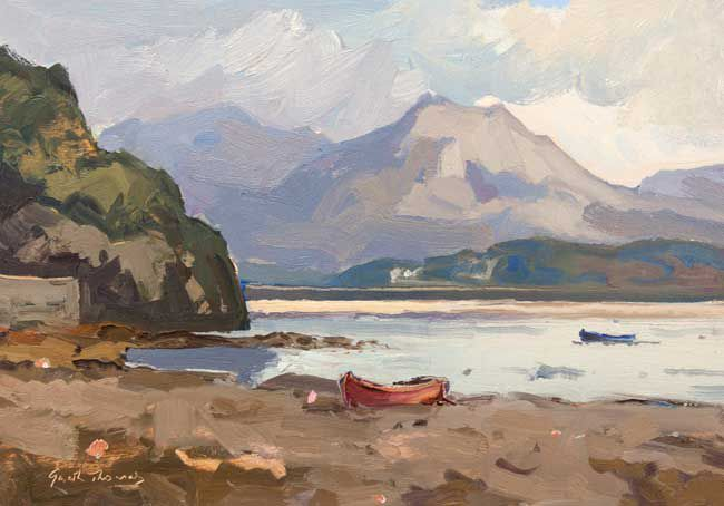 Gareth Thomas (1955-2019), Two Boats, Porthmadog