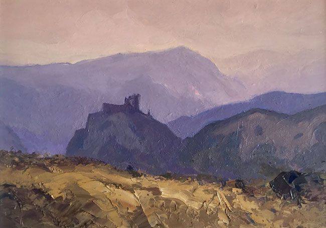Gareth Thomas (1955-2019), View of Carreg Cennen