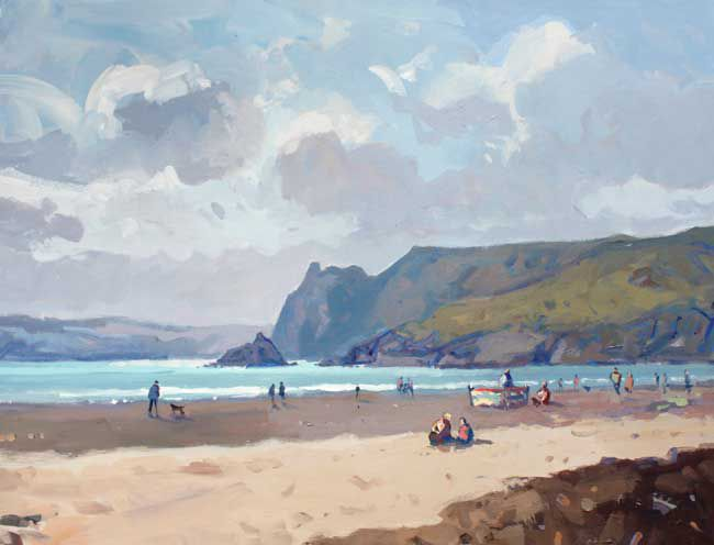 Gareth Thomas, Clouds, Three Cliffs Toward Tor
