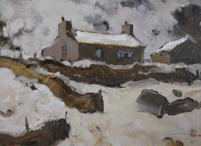 Gareth Thomas, House And Snow Llanberis