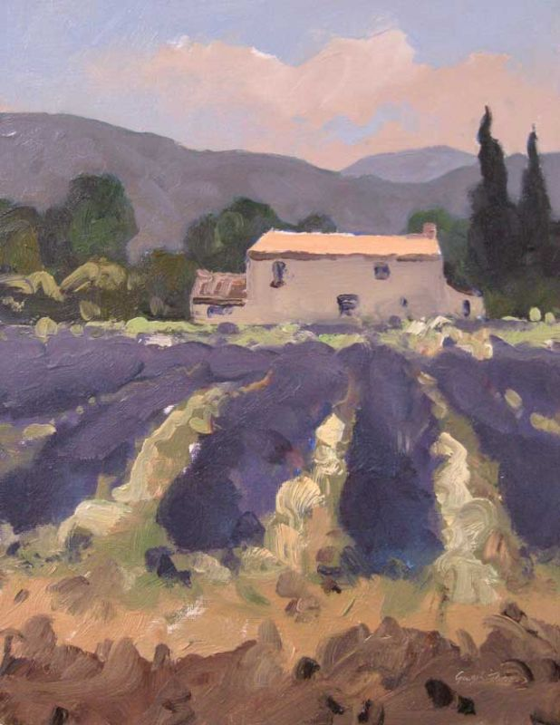 Gareth Thomas, House With Lavender Near Sault